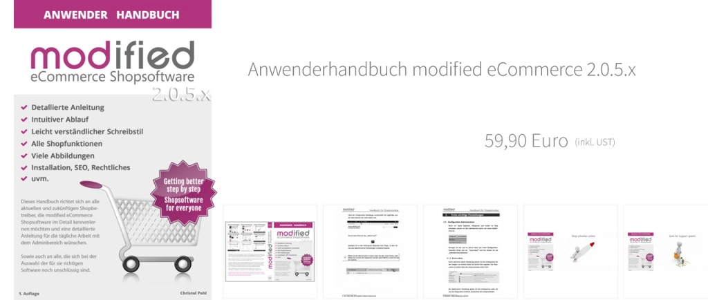 Anwenderhandbuch modified eCommerce 2.0.5.x