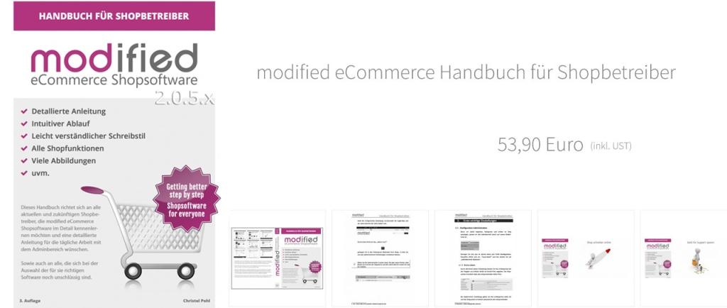 Handbuch für Shopbeteiber modified eCommerce 3. Auflage