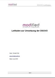 Leitfaden zur Umsetzung der DSGVO